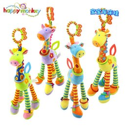 $enCountryForm.capitalKeyWord NZ - 39cm Giraffe Activity Spiral baby bed pram hanging toys baby stroller toy infant gifts plush product Soft Toys for Kids