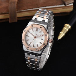 Wholesale 2017 Fashion Lady Watches Women Watch Luxury Brand Rose Gold Silver Stainless Steel Oaks Wristwatches Female Clock Colors Daydate