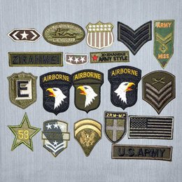 Embroidered Number Patches Australia - 19 PCS Military Number Patches Embroidered Iron on For Clothes Army Epaulets Patch Fabric Sticker DIY New Military Badges Patches Sew Iron o
