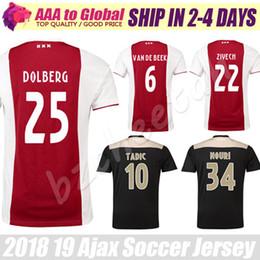 94f4bf73c Camisetas Ajax Jersey 2019 Dolberg Camisetas Ajax FC Soccer Camisetas  Camisa Nouri Tadic Schone Van De Beek Ziyech Huntelaar Camisetas de fútbol