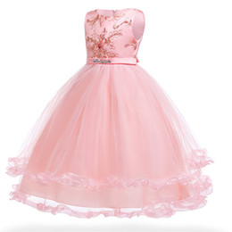 $enCountryForm.capitalKeyWord UK - Flower Girl Dress Children clothing 3-14 year Kids Girls Wedding embroidery Princess Pageant Formal Tulle long party dress