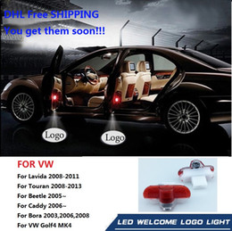vw golf 4 2021 - DHL Free Shipping LED Laser Projector Car Courtesy Logo Light For Volkswagen VW golf 4 Bora Touran Candy Beetle Lavida Golf4