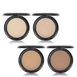 Face Whitening Sun Block Australia - Best Quality IMAGIC Natural Brand 4 Colors Face Base Pressed Powder Makeup Matte Shimmer Fix Palette Concealer Powder Nude Compact Cosmetics