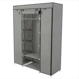práctico 5 capas organizador de almacenamiento de armario portátil Armario de ropa Rack con estantes