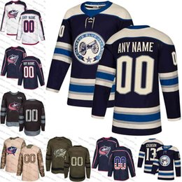 custom 2019 Navy Alternate Columbus Blue Jackets Nick Foligno Cam Atkinson  Sergei Bobrovsky Brandon Saad Scott Hartnell Seth Jones Jerseys c5d4366e5