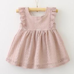 $enCountryForm.capitalKeyWord Canada - 2018 Children's wear summer girl princess dress lace lotus leaf buckle baby dress princess boutique clothes