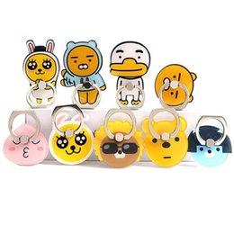 Discount finger holder for phones - Universal 360 Degree Cute Cartoon Rabbit Bear Duck Finger Ring Holder Phone Stand Mount For iPhone 8 Samsung Mobile Phon