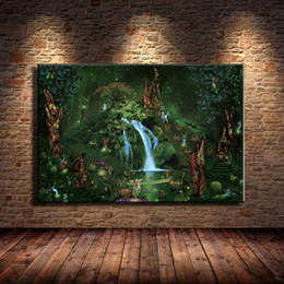 fairy canvas art UK - Fairies Forest,Home Decor HD Printed Modern Art Painting on Canvas (Unframed Framed)