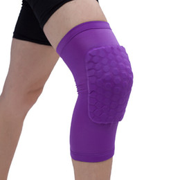 volleyball elbow pads UK - New Hot Honeycomb Sports Safety Volleyball Basketball Short Knee Pad Shockproof Compression Socks Knee Wraps Brace Protection Single Pack