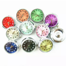 Watch spring bracelets online shopping - Hot Selling Mix mm Watch Snap Buttons Charms Fit Ginger Snap Bracelet Women Bangles Necklace Jewelry
