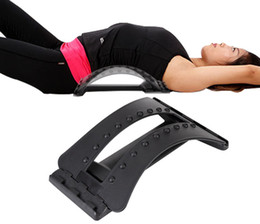 sit ups equipment 2018 - hot sale Back Stretcher Stretching Device Adjustable Massage Spine Posture Corrector Relaxation Apparatus Equipment chea