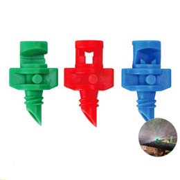 sprayer nozzles Canada - Atomization Micro Sprinkler Watering Spray Equipments Gardens Decorations Nozzle 90 180 360 Degrees Irrigation Small High Quality 0 33qt V