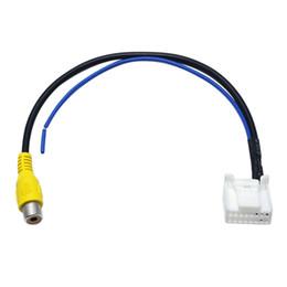 $enCountryForm.capitalKeyWord NZ - Car Parking Reverse Rear Camera Video Plug Converter Cable Adapter For Toyota Camry 7th Navigation DVD #2593