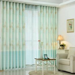 Korean Smell Fresh Printing Blackout Curtains For Living Dining Room Kitchen Garden Curtain White Velvet Fabric Home Decoration