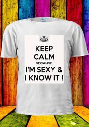 Sono sexy e lo conosco Tumblr T-shirt Vest Canotta Uomo Donna Unisex 1235 in Offerta