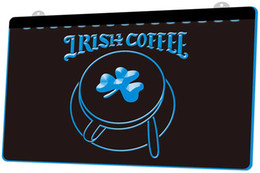 NeoN shamrock light online shopping - LS1729 g Irish Coffee Cup Shop Shamrock Neon Light Sign Decor Dropshipping colors to choose