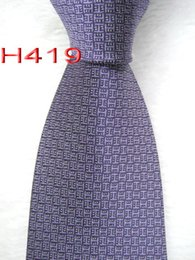 silk polyester NZ - Mens Classic Silk Polyester Ties for Mens Neckwear Business Skinny Grooms Necktie for Wedding Party Suit Shirt Tie H419