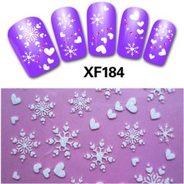 nails art for christmas 2019 - 1sheet New Fashion Christmas Snowflake Nail Stickers Water Transfer Decals Manicure Watermark Stickers DIY for Nail Art
