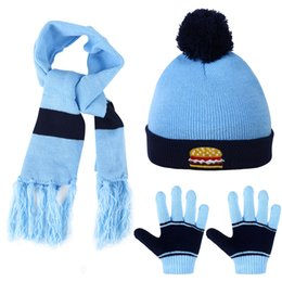 61c762cc3ff23 Children 3pcs Cartoon Kids Winter Knitted Scarf Gloves Hat Sets Children  Knitting Wool Beanies Cap Gloves for Boys Girls
