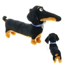 $enCountryForm.capitalKeyWord UK - toys gift New Hot Toy Cartoon Dachshund Plush Black Sausage Buddy dog Toy Holiday Birthday Party Gifts for Kids 30*16 cm
