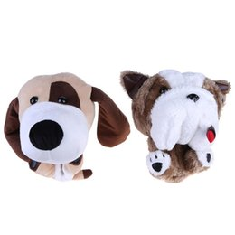 Golf Club Head Covers NZ - Soft Fleece Golf Putter Protective Cute Cartoon Puppy Dog Golf Club Head Covers Protector for 460CC No.1 Drive Accessories