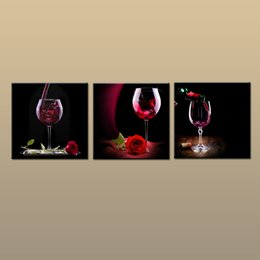 Framed Print Red Abstract NZ - Framed Unframed Large Modern Wall Art Canvas Giclee Prints Red Wine Painting Abstract Picture Decor 3 piece Home Living Room Decor abc272