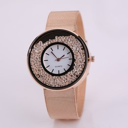 Wholesale Women Watch Women Net With Sands Watch Fashion Lady Net With Watch Dial Crystal Flowing Sand Beads