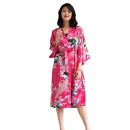 41550fbb36 Casual Kimono Bathrobe Gown Women Sexy Wedding Bride Bridesmaid Robe Set  2PCS Sleepwear Rayon Geisha Nightgown Robe Sleep Suit