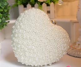 $enCountryForm.capitalKeyWord Canada - Bridal Hand Pearls Bags Sweetheart Dinner Bags Fashion Modern Evening Bags 18cm*19cm Hear-Shaped