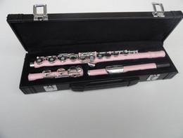 Western Concert Flute Cupronickel placcato rosa 16 fori aperto C chiave strumento a fiato con guanti Mini caso cacciavite imbottito in Offerta