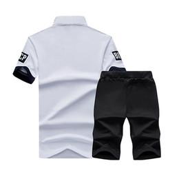 $enCountryForm.capitalKeyWord Australia - Active Tracksuit Sportswear Men Shorts Summer Brand T Shirt Men Letter Printed Sporting Set Fashion Suit Male Famous Brand Men Top Shirt