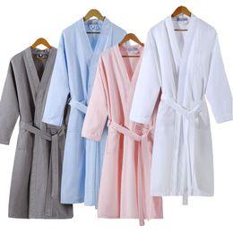 1f15432bdf85 Waffle Bathrobes UK - Lovers Summer Fashion Waffle Bathrobe Women Suck  Water Kimono Bath Robe Plus