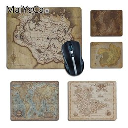 unique maps 2019 - MaiYaCa Vintage Style old map mouse pad gamer play mats Gaming Durable PC Anti-slip Muismat Unique Desktop Pad Game Mous