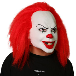 $enCountryForm.capitalKeyWord NZ - 2018 Halloween Pennywise Clown Mask Top Grade 100% Latex Classic Scary Clown Mask Toy Movie By Stephen King It Men's Cosplay Props Hot