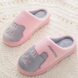 $enCountryForm.capitalKeyWord Australia - New Women cotton Slippers Winter Flat Sweet Home Slippers Woman Indoor Shoes Warm Soft Slip On Black Pink Grey Female Slipper