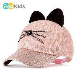 f981cf2744a REAKIDS 2018 Cute Cap Baby Hat Children Ear Baseball Hat For Baby Girls  Boys Infant Summer Cap For Children Fashion