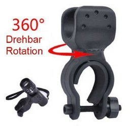 Wholesale 360 degree rotating Cycling Grip Mount Bike Clamp Clip Bicycle Flashlight LED Torch Light Holder Plastic Holder