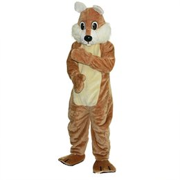 China 2018 New high quality Brown squirrel Mascot costumes for adults circus christmas Halloween Outfit Fancy Dress Suit Free Shipping suppliers