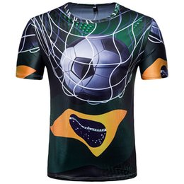 1a92dbc47 Brazil 3D Printed Team Soccer T Shirts Short Sleeve Casual Men World Cup T  Shirts Football Jersey Plus Size M-2XL
