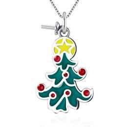 Sterling Tree Pendant NZ - Merry Chritsmas Tree Necklace Pendant Mounting Bracelet Pendant In 925 Sterling Silver