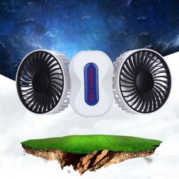 $enCountryForm.capitalKeyWord NZ - Mini Portable Couple Foldable Fan Air Cleaning Cooling 350 Degree Rotation 2 in 1 Third Gear Adjustment ABS + Electronic Components 1200mAh