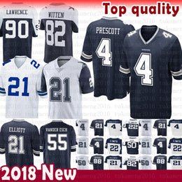Dallas Jersey Cowboys 4 Dak Prescott 21 Ezekiel Elliott 50 Sean Lee 82  Jason Witte 11 Cole Beasley 90 Lawrence Vander Esch Emmitt Smith 55 f231dab23