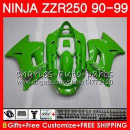 1993 kawasaki fairing online shopping - Bodywork For KAWASAKI NINJA ZZR ZZR250 HM ZZR ALL green Fairing gloss green kit