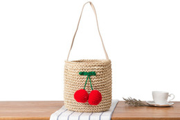 straw hands bag NZ - Wholesale 2018 new rural wind hand-woven cute round ball shoulder bag sleek minimalist beach bag wild holiday straw bag