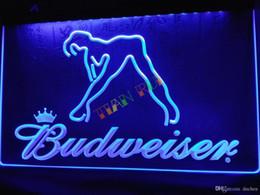 China LE133-b Budweiser Exotic Dancer Stripper Bar Light Sign home decor shop crafts led sign suppliers