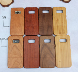 cellphone back case for samsung NZ - Hot Sale Newest Cellphone Wood Case For Samsung Galaxy S8 Plus S9 Note 8 note8 S7 edge Wooden Hard Back Cover Bamboo Phone Cases For Iphone