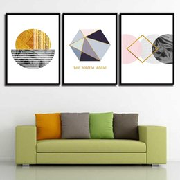 Art Canvas Prints Australia - Art HD Print Painting Minimalist Abstract Geometric Figure Nordic Style Canvas Poster Wall Pictures For Home Wedding Decoration