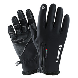 windproof waterproof touch screen gloves UK - Touch Screen Ski Gloves Winter Waterproof Windproof Fleece Warm Snowboard Gloves Outdoor Hiking Camping Skiing