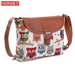 $enCountryForm.capitalKeyWord Australia - Owl Printed Women Handbag Satchel Bag Crossbody Tote Bag Shoulder Messenger Comfystyle san31d
