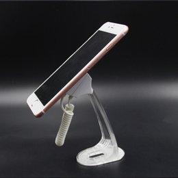 (50 adet / grup) saf renk akrilik anti kayıp kukla telefon güvenlik ekran standı için 3 m sticker ile sabit ekran masa